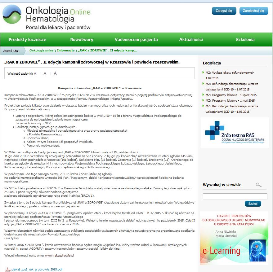 Portal Onkologia i Hematologia pl - 03.09.2015