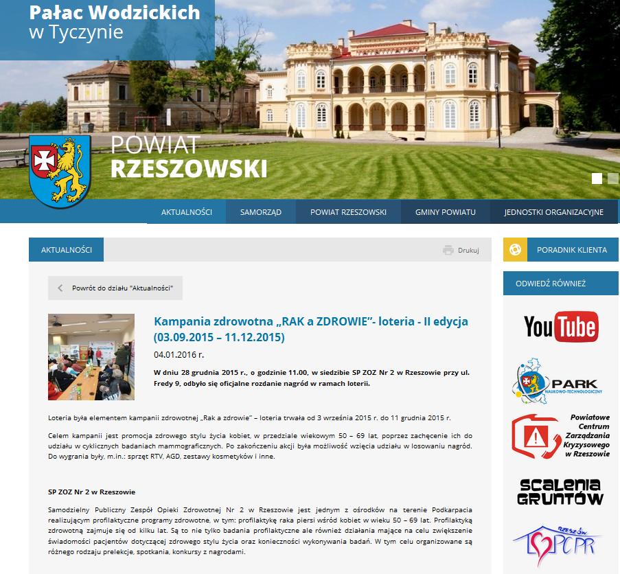 Starostwo Powiatowe w Rzeszowie - 04.01.2016