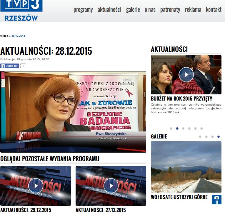 TVP Rzeszów - Aktualności - 28.12.2015